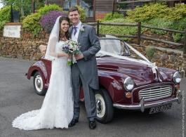 Classic Morris Minor wedding car in Lewes